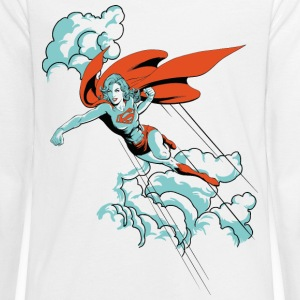 DC Comics Originals Supergirl Flying - Teenager premium T-shirt med lange ærmer