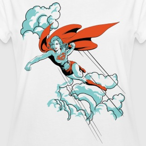 DC Comics Originals Supergirl Fliegt Wolken - Frauen Oversize T-Shirt