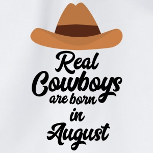 Real Cowboys are bon in August Sajra Bags & Backpacks - Drawstring Bag