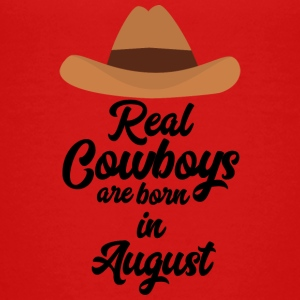 Rigtige Cowboys er bon i August Sajra T-shirts - Teenager premium T-shirt