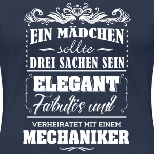 Familie Mechanikers Frau T-Shirts - Frauen Premium T-Shirt