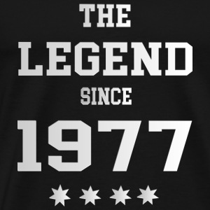 The Legend since 1977 T-Shirts - Männer Premium T-Shirt