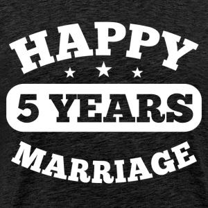 5 Years Happy Marriage T-Shirts - Männer Premium T-Shirt