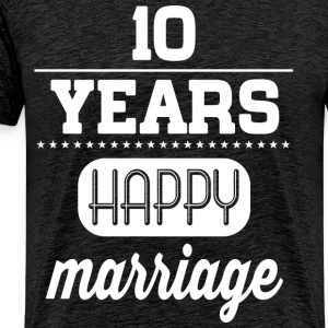 10 Years Happy Marriage T-Shirts - Männer Premium T-Shirt