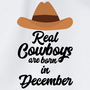 Real Cowboys are bon in December Sw215 Bags & Backpacks - Drawstring Bag