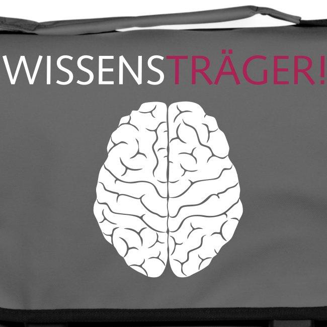"""Umhängetasche """"Wissensträger Gehirn"""""""