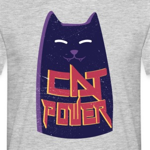 Heather grey Cat power T-Shirts - Men's T-Shirt