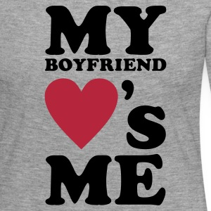 MY BOYFRIEND LOVES ME Long Sleeve Shirts - Women's Premium Longsleeve Shirt