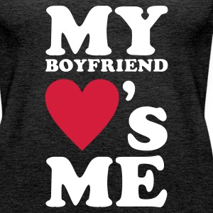 MY BOYFRIEND LOVES ME Tops - Women's Premium Tank Top
