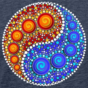 Yin Yang, Elements, Dot Art, Mosaic, Spiral T-Shirts - Men's Premium T-Shirt