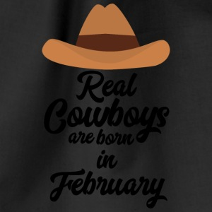 Real Cowboys are bon in February Si955 Bags & Backpacks - Drawstring Bag