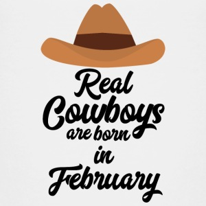 Real Cowboys are bon in February Si955 Shirts - Kids' Premium T-Shirt