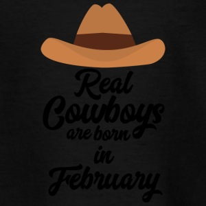 Real Cowboys are bon in February Si955 Shirts - Kids' T-Shirt
