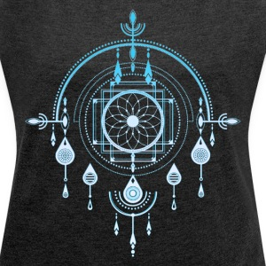 Dreamcatcher, Dream Catcher Amulet, Indian T-Shirts - Women's T-shirt with rolled up sleeves
