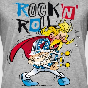 Asterix & Obelix Cacofonix Rock'n'Roll - Men's Vintage T-Shirt