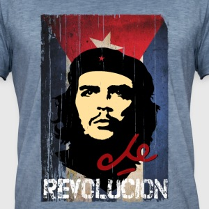 Che Guevara Cuban Flag - Men's Vintage T-Shirt