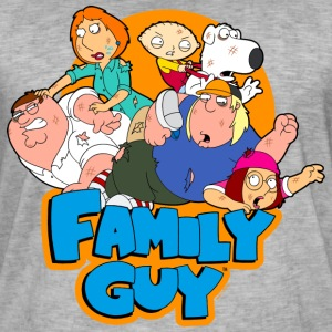 Family Guy Characters Brawl - Herre vintage T-shirt