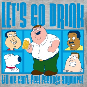 Family Guy Peter Griffin Let's Go Drink - Maglietta vintage da uomo