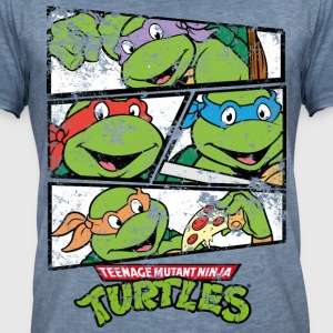 TMNT Turtles Heores - Men's Vintage T-Shirt