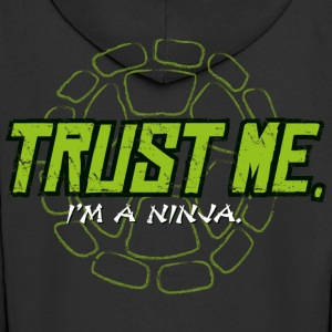 TMNT Turtles Trust Me I'm A Ninja Shield - Men's Premium Hooded Jacket