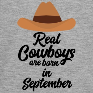 Real Cowboys are bon in September Se2 Long Sleeve Shirts - Teenagers' Premium Longsleeve Shirt
