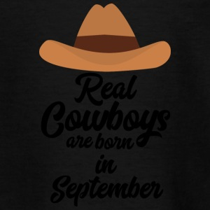 Rigtige Cowboys er bon i September Se2 T-shirts - Teenager-T-shirt