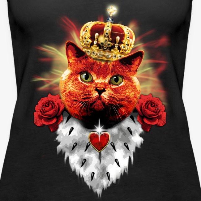Red Cat the Prince Princess Katze Krone Vintage Top