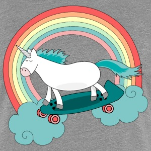 Unicorn with skateboard T-Shirts - Women's Premium T-Shirt