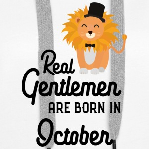 Real Gentlemen are born in October Slbpz Hoodies & Sweatshirts - Women's Premium Hoodie