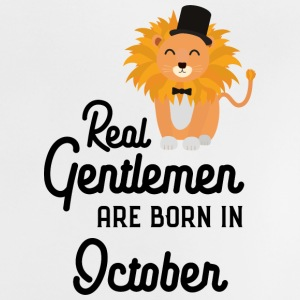 Real Gentlemen are born in October Slbpz Baby Shirts  - Baby T-Shirt