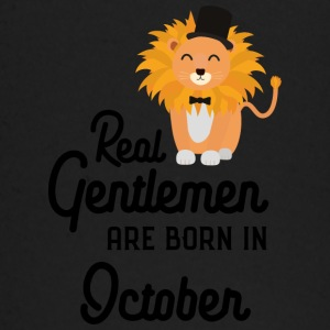 Real Gentlemen are born in October Slbpz Baby Long Sleeve Shirts - Baby Long Sleeve T-Shirt