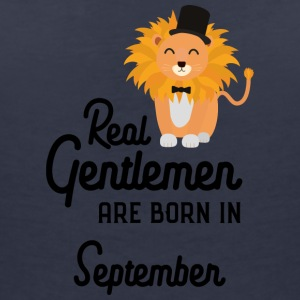 Real Gentlemen are born in September Smz9b T-Shirts - Women's V-Neck T-Shirt