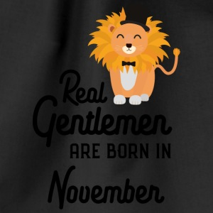 Real Gentlemen are born in November S76j0 Bags & Backpacks - Drawstring Bag