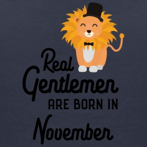 Real Gentlemen are born in November S76j0 T-Shirts - Women's V-Neck T-Shirt