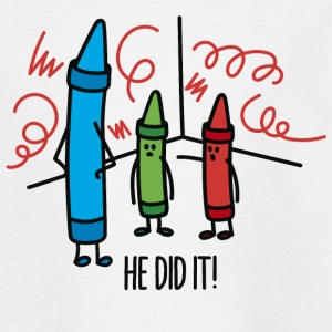 He did it - wasco crayons Skjorter - T-skjorte for barn