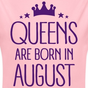 Queens Are Born In August Bodys Bébés - Body bébé bio manches longues