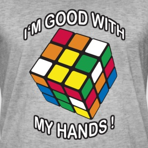 Rubik's Cube I'm Good With My Hands - T-shirt vintage Homme