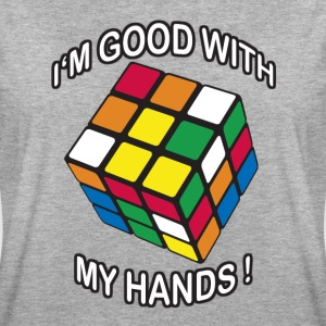 Rubik's Cube Quotes I'm Good With My Hands - Women's Oversize T-Shirt