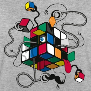 Rubik's Cube Robot Style - Dame oversize T-shirt