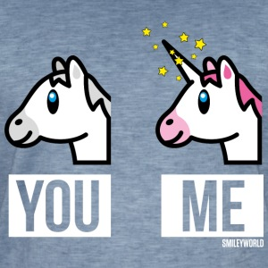 SmileyWorld You Me Horse Vs Unicorn - Men's Vintage T-Shirt