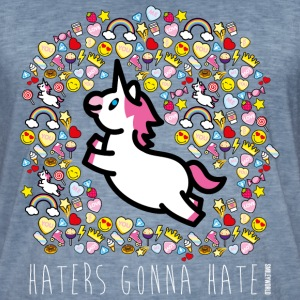 SmileyWorld Einhorn Haters Gonna Hate - Männer Vintage T-Shirt