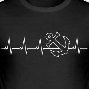 Anker - Anchor - Heartbeat T-Shirts - Men's Slim Fit T-Shirt