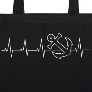 Anker - Anchor - Heartbeat Bags & Backpacks - EarthPositive Tote Bag