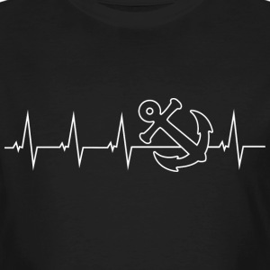 Anker - Anchor - Heartbeat T-shirts - Mannen Bio-T-shirt