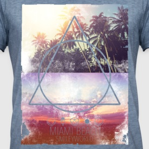 SmileyWorld Miami Beach Palmiers - T-shirt vintage Homme
