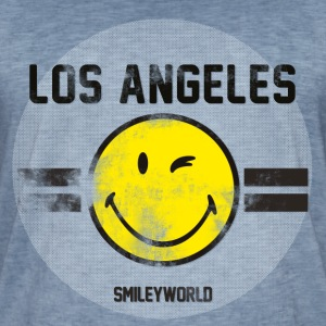 SmileyWorld Los Angeles Winking Smiley - Men's Vintage T-Shirt