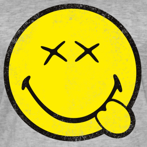 SmileyWorld Classic Oldschool Smiley - Men's Vintage T-Shirt