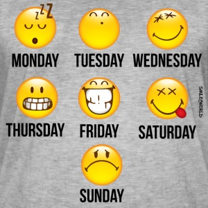 SmileyWorld Weekly Overview - Mannen Vintage T-shirt