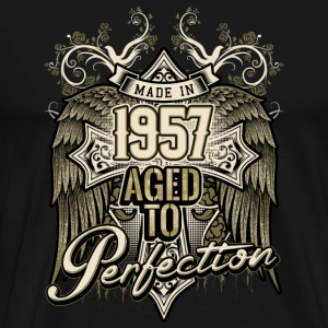Made in 1957 aged to perfection - retro birthday gift present - RAHMENLOS T-Shirts - Männer Premium T-Shirt