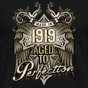Made in 1919 aged to perfection - retro birthday gift present - RAHMENLOS T-Shirts - Männer Premium T-Shirt
